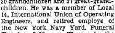My Great Grandfather was a lifelong employee at the Brooklyn Navy Yard, sometimes called the New York Navy Yard