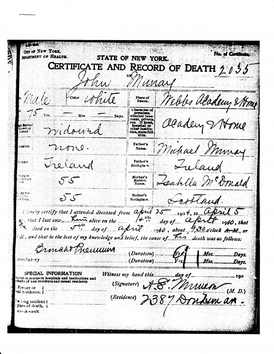 New York Death Records Brooklyn Genealogy
