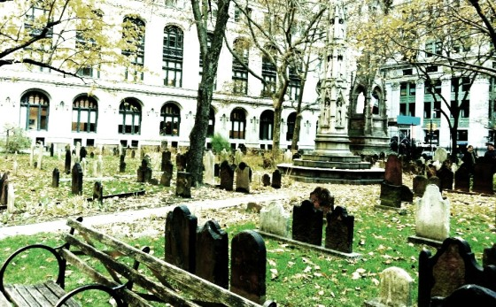 Trinity Church Cemetery, the only remaining active cemetery in Manhattan.
